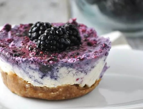 Recipe idea – Lemon Blackberry Cashew Cheesecake